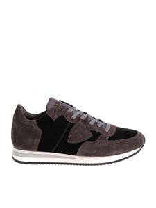 """Philippe Model - """"Tropez L"""" black and gray sneakers"""