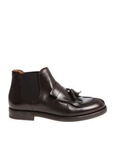 Doucal's - Chelsea shoes brown with fringe