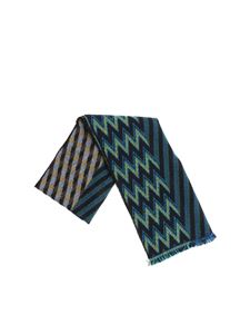 Missoni - Black, green and yellow chevron scarf