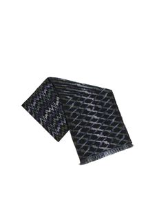 Missoni - Black, green and blue scarf