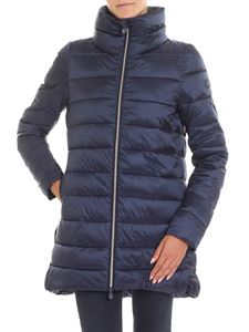 Save the duck - Blue padded jacket with crater collar