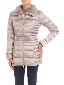 Save the duck - Beige padded jacket with eco-fur insert