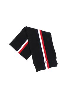Moncler Jr - Black knitted scarf