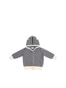 Moncler Jr - White and blue hooded cardigan