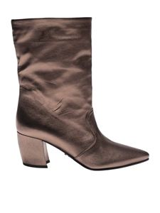 Prada - Laminated leather ankle boots