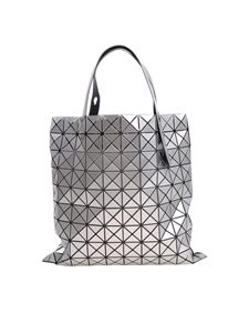 BAO BAO Issey Miyake - Soft silvered tote with square motifs and triangles