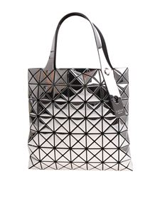 BAO BAO Issey Miyake - Silver soft bag with geometric pattern