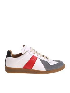 Maison Margiela - White sneakers with gray and red inserts