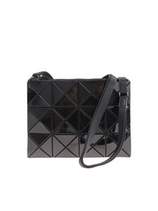BAO BAO Issey Miyake - Soft black shoulder bag with squares and triangles