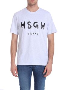 MSGM - Grey t-shirt with logo print