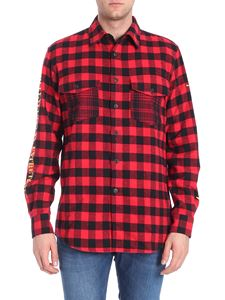 Marcelo Burlon - Black and red checked shirt