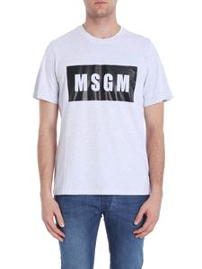 MSGM - Grey t-shirt with black logo print