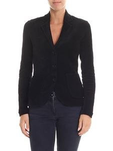 Majestic Filatures - Three-button corduroy black jacket