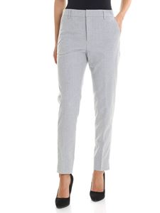 Kubera - Grey melange trousers with lamé details