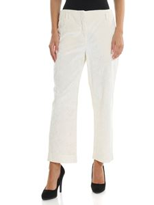 Kubera - Corduroy ivory color trousers