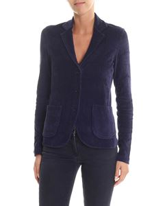Majestic Filatures - Blue corduroy three buttons jacket