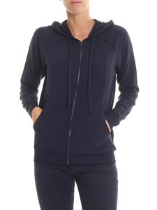 Majestic Filatures - Blue Lila hooded sweatshirt