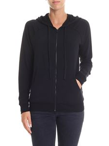 Majestic Filatures - Black Lila hooded sweatshirt