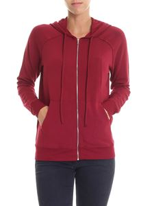 Majestic Filatures - Lila burgundy hooded sweatshirt