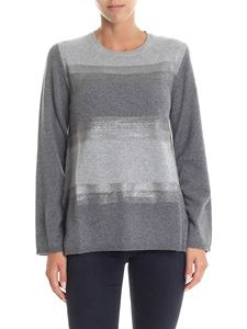 Kangra Cashmere - Crew neck sweater in shades of grey