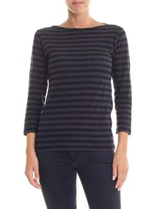 Majestic Filatures - Black and anthracite striped sweater