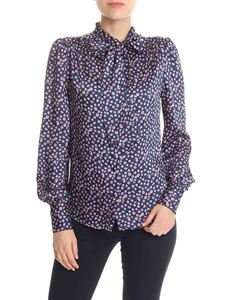 Ermanno by Ermanno Scervino - Blue shirt with all-over pink floral print