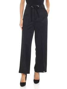 Zucca - Black high-waisted trousers with veins