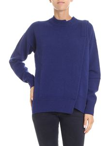 Zucca - Blue pullover with front vent