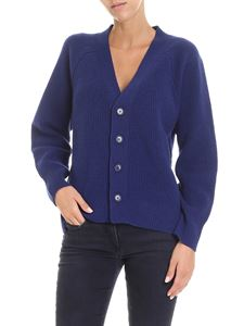 Zucca - Electric blue V-neck cardigan