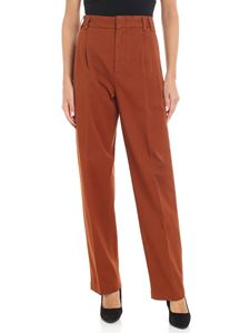 Aspesi - Brick-colored trousers with pleats
