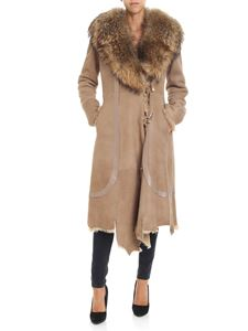 Desa 1972 - Sheepskin coat with fur collar