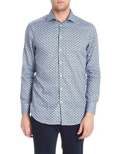 Etro - Light blue and brown printed shirt