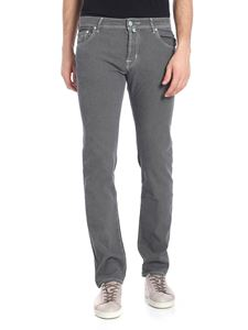 Jacob Cohën - Grey jeans with woven pattern