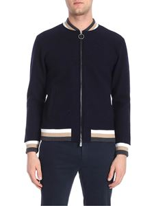 Eleventy - Dark blue jacket with zip