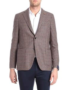 Lardini - Houndstooth fabric 3 buttons jacket