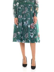 KI6? Who are you? - Floral print green skirt