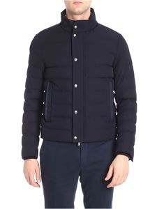 Moncler - Blue Bellentre wool down jacket