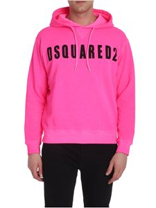 Dsquared2 - Neon pink sweatshirt with black logo print