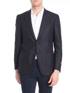 Isaia - Two buttons woolen cloth anthracite jacket