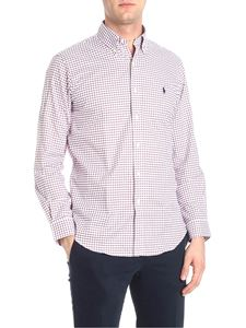 POLO Ralph Lauren - White and burgundy checked shirt