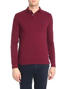 POLO Ralph Lauren - Long-sleeved burgundy polo