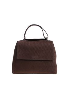 Orciani - Brown reptile effect nubuck Sveva bag