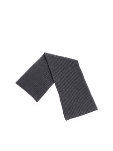 Della Ciana - Anthracite ribbed fabric scarf