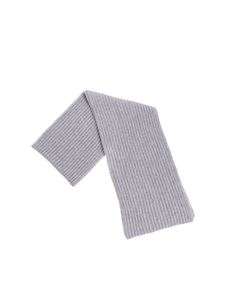 Della Ciana - Grey ribbed fabric scarf