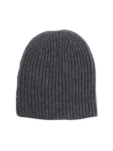 Della Ciana - Anthracite ribbed fabric beanie