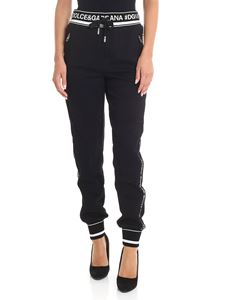 Dolce & Gabbana - Black pants with all over logo