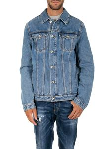 MSGM - Light blue vintage effect denim jacket