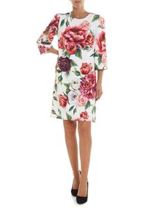 Dolce & Gabbana - Abito in cady stampa peonie
