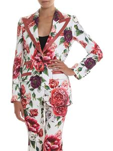 Dolce & Gabbana - Peony printed cady two-button jacket