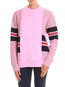 MSGM - Pink sweatshirt with knitted edges